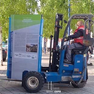 livraison installation exposition photos