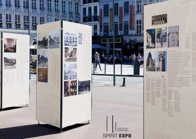 mobilier urbain exposition en extérieur