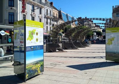 Support exposition itinérante Chalon sur saone