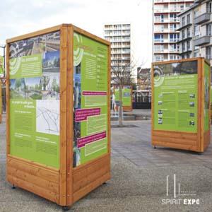 location support exposition en extérieur