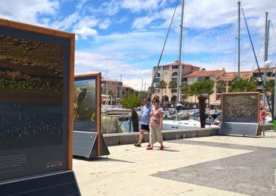 mobilier expo photos extérieur temporaire