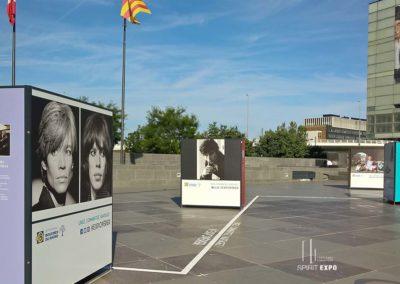 support exposition photos extérieur