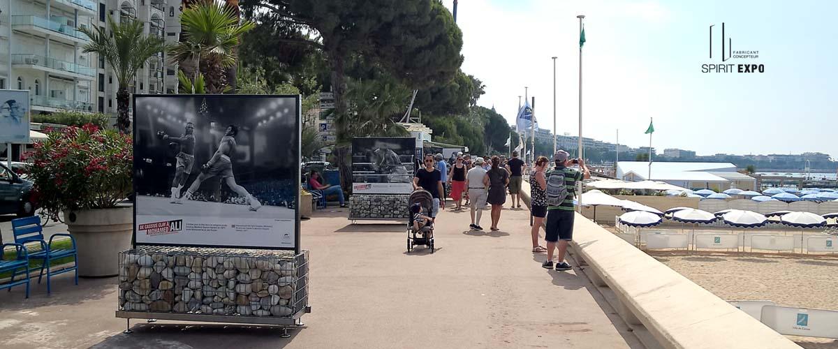 panneau expo temporaire Cannes