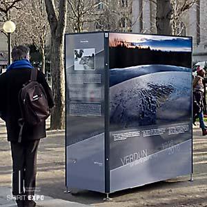 panneau pour exposition photos temporaire