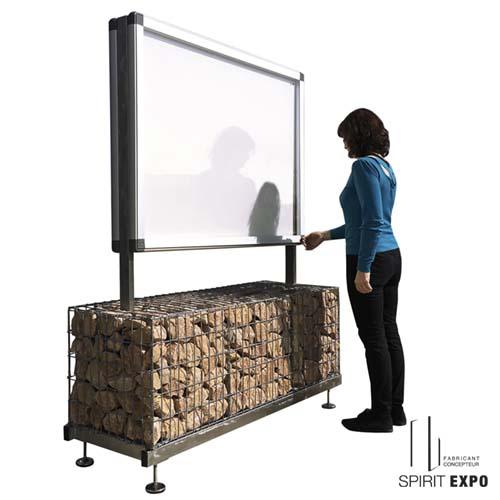 vitrine affichage exterieur sur support 2 faces