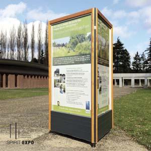 support vitrines affichage exterieur Joncherolles