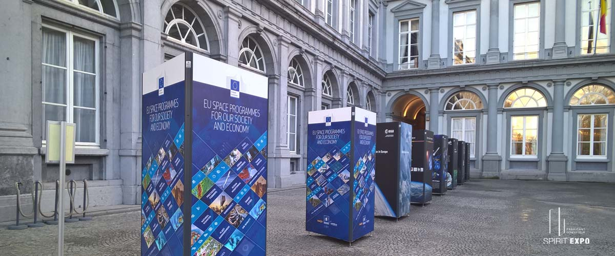 Expo temporaire extérieur Bruxelles