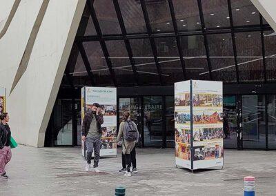 exposition photos extérieur Genevilliers