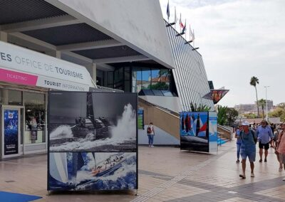 Exposition photos extérieur Cannes