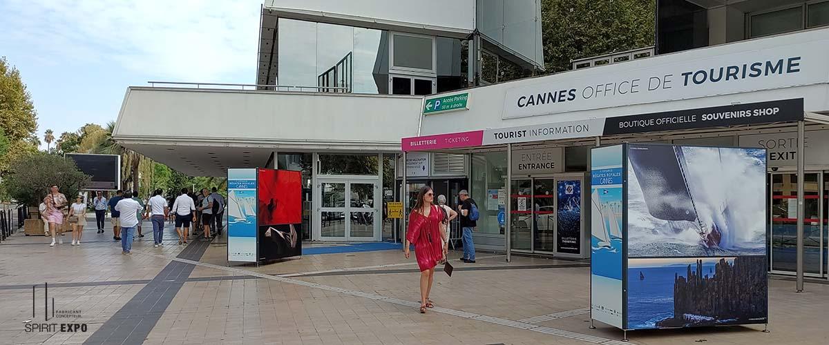 Panneaux expositions photos extérieur Cannes