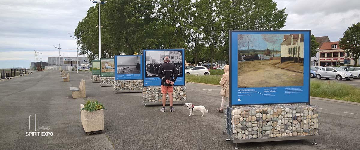 Support exposition photos exterieur