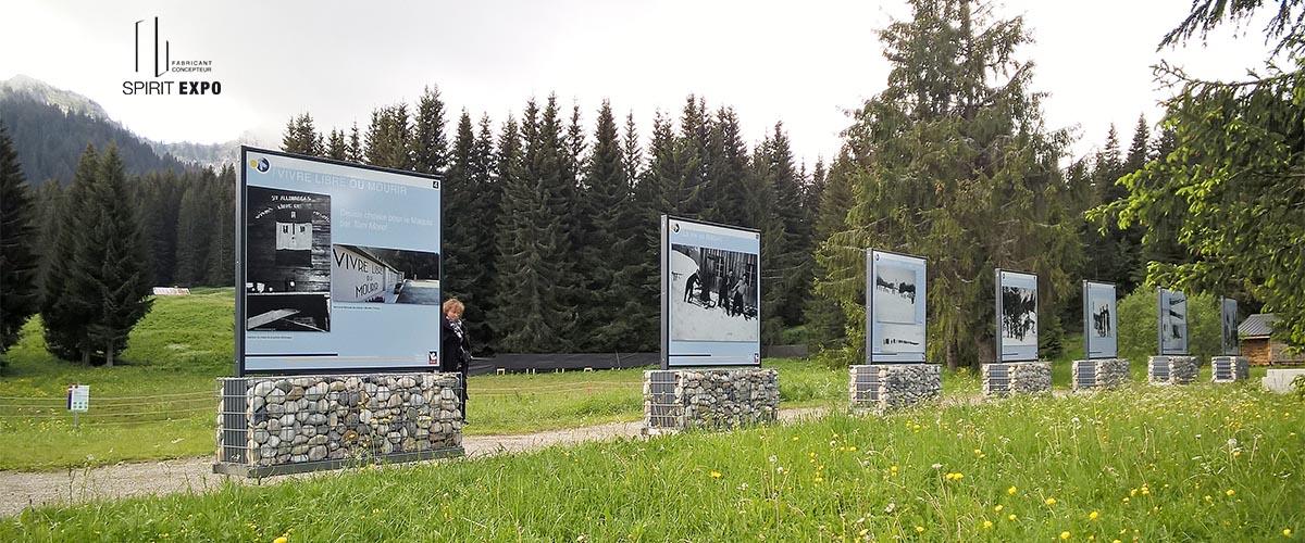 support exposition photos extérieur Glières