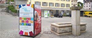 exposition photos itinérantes sur support 4 faces cube