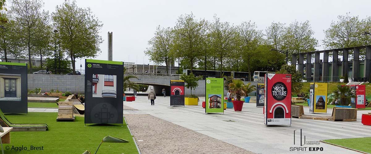 exposition en extérieur à Brest