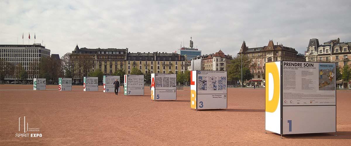 exposition extérieure Genève