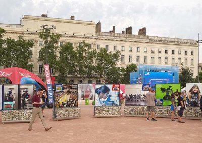 support exposition extérieur Lyon FIFA