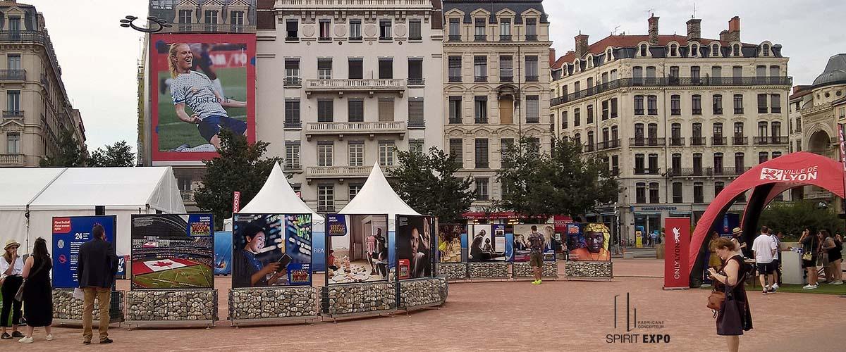 exposition photos en extérieur Lyon FIFA