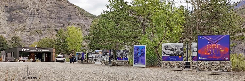 mobiliers exposition extérieur Serre-Ponçon