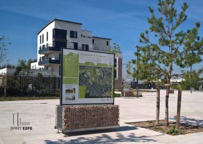 panneaux exposition extérieur Montévrain