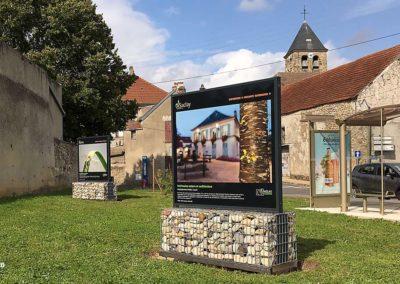 panneau exposition extérieur Saclay