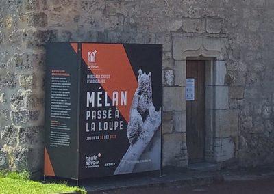 support expo photos extérieur Mélan