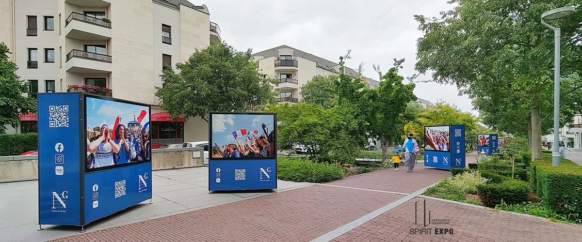 support expo photos extérieure Noisy le Grand
