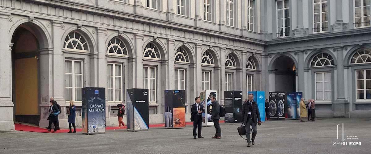 support exposition extérieur Bruxelles