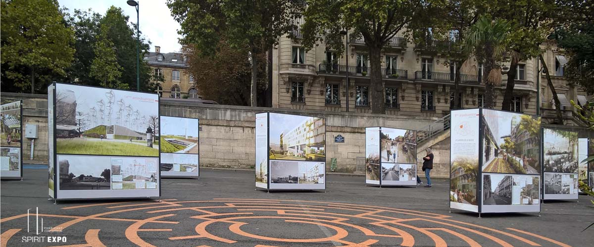 mobilier urbain pour exposition extérieure