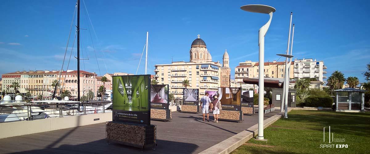 support exposition extérieur St Raphael